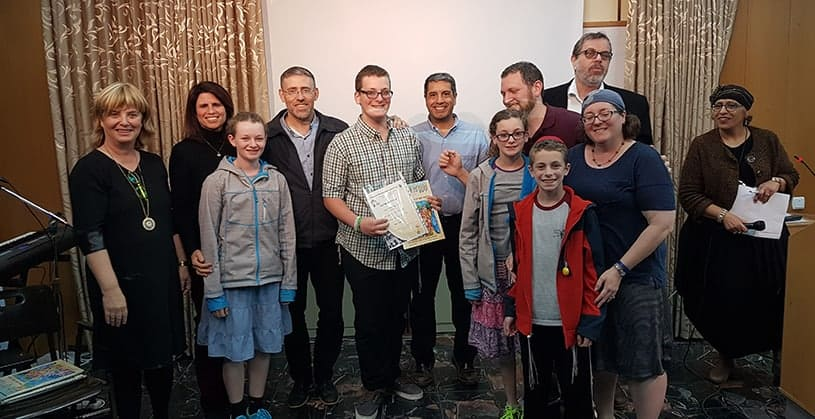 "AMIT Students from Modiin receive the ""Olim (Immigrants) of the Decade"" Award"