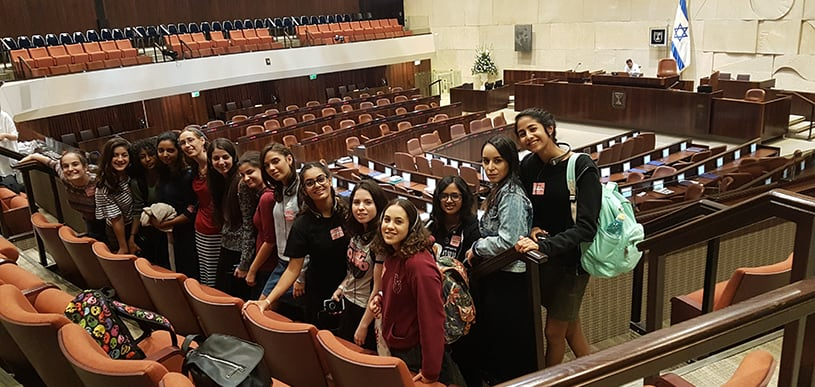 AMIT students help Knesset kick off winter session