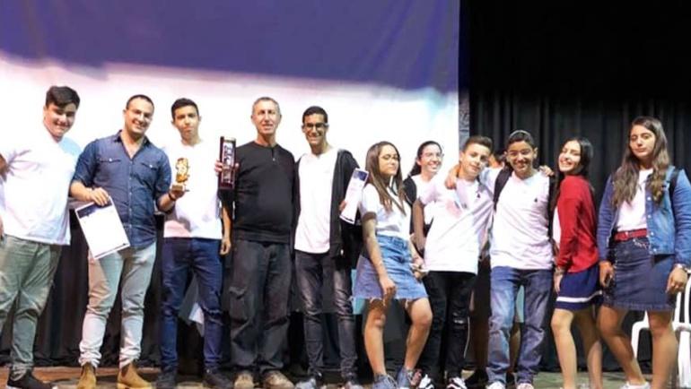 AMIT Kiryat Malachi students build winning Rube Goldberg machine