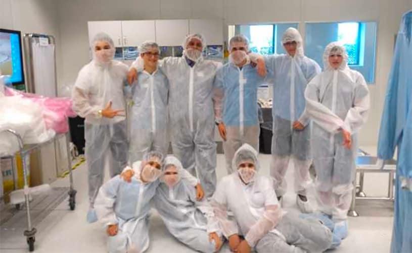 AMIT Dvir robotics team visits microchip manufacturer