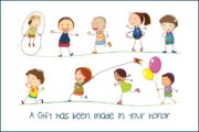 A gift has been made in your honor card